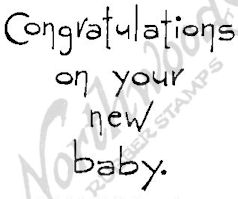 E4380 Tall Simple Congratulations On Baby