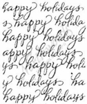 E4448 Script Happy Holidays Block