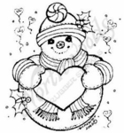 E4878 Snowman With Heart