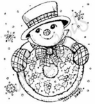 E4880Snowman With Wreath