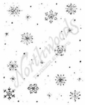 E4881 Snowflake and Dot Background