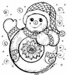 E4882 Snowman With Ornament