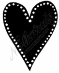 E6447 Large Dotted Solid Heart