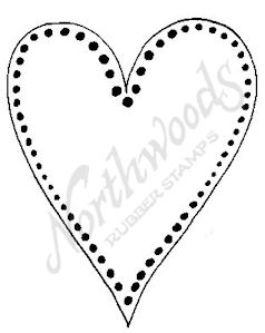 E6448 Large Dotted Open Heart