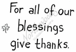 E7133 Simple For All Of Our Blessings