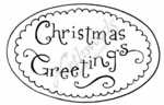 E7812 Christmas Greetings In Oval
