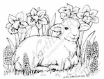 E7949 Baby Lamb With Daffodils