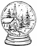 F3906 Church Snow Globe