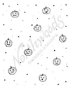 F4722 Jack-O-Lantern and Dot Background