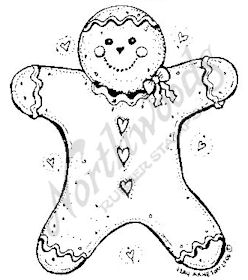 F4854 Gingerbread Man With Hearts-Medium