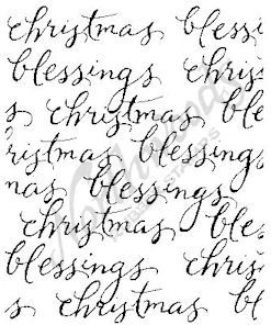 F4893 Script Christmas Blessing Block