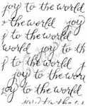 F4895 Script Joy To The World Block