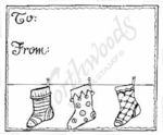 F4916 Hanging Stockings Gift Tag