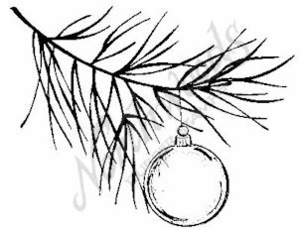 F6322 Hanging Ornament On Bough