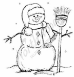 F6358 Snowman With Broom