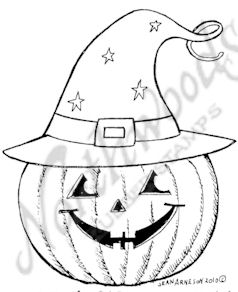 F7512 Jack O' Lantern With Witch's Hat