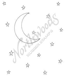 F7539 Starry Crescent Moon