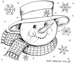 F7749 Snowman Face With Grin