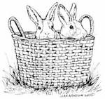F7934 Baby Bunnies In Basket