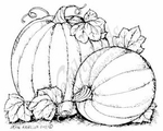 F8193 Pumpkin Pair With Leaves