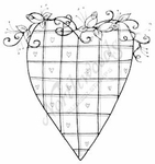 F8379 Heart With Plaid Hearts and Rose Vine