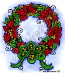 F8787 Small Poinsettia Wreath