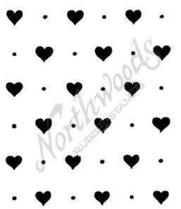 F8937 Solid Hearts And Dots