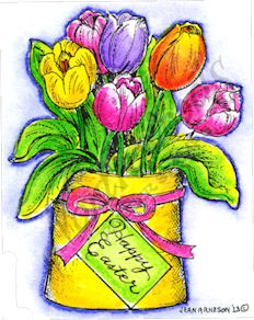 F9000 Tulip Bag With Happy Easter Tag