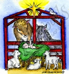 F9256 Tiny Nativity With Animals