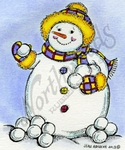 F9318 Snowman With Snowballs