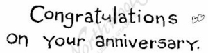 H6156 Simple Congratulations On Your Anniversary