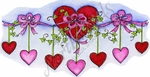 O9390 Hanging Hearts And Vine