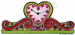 O9386 Heart Mantle Clock
