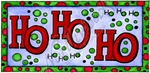 O9669 Ho Ho Ho With Bubbles Rectangle