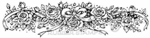 I1170 Rose and Bow Border