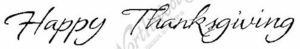 I4489 Cursive Happy Thanksgiving