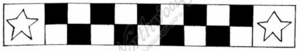 I7511 Star And Checkerboard Ribbon