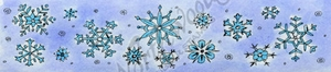 I9320 Narrow Snowflake Border