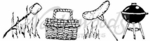 II4026 Picnic Basket and Grill Cube