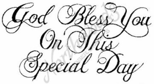 J010 God Bless You On This Special #1