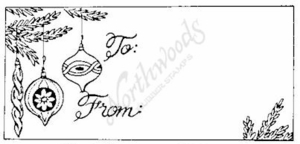 J1944 Ornament Gift Tag