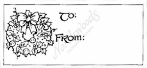 J1945 Wreath Gift Tag
