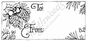 J1958 Pinecone Gift Tag