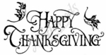 J2271 Happy Thanksgiving With Oak Leaves