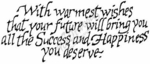 J2320 Calligraphy With Warmest Wishes