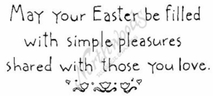 J2671 Simple May Your Easter Be Filled