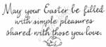 J2673 Calligraphy May Your Easter Be Filled