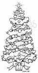 J3905 Snowy Decorated Tree-Medium