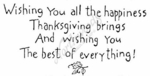 J4419 Simple Wishing You  All The Happiness Thanksgiving