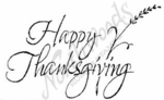 J4487 Script Happy Thanksgiving